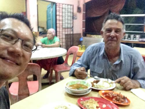 Tim and me catching up enroute to Rompin