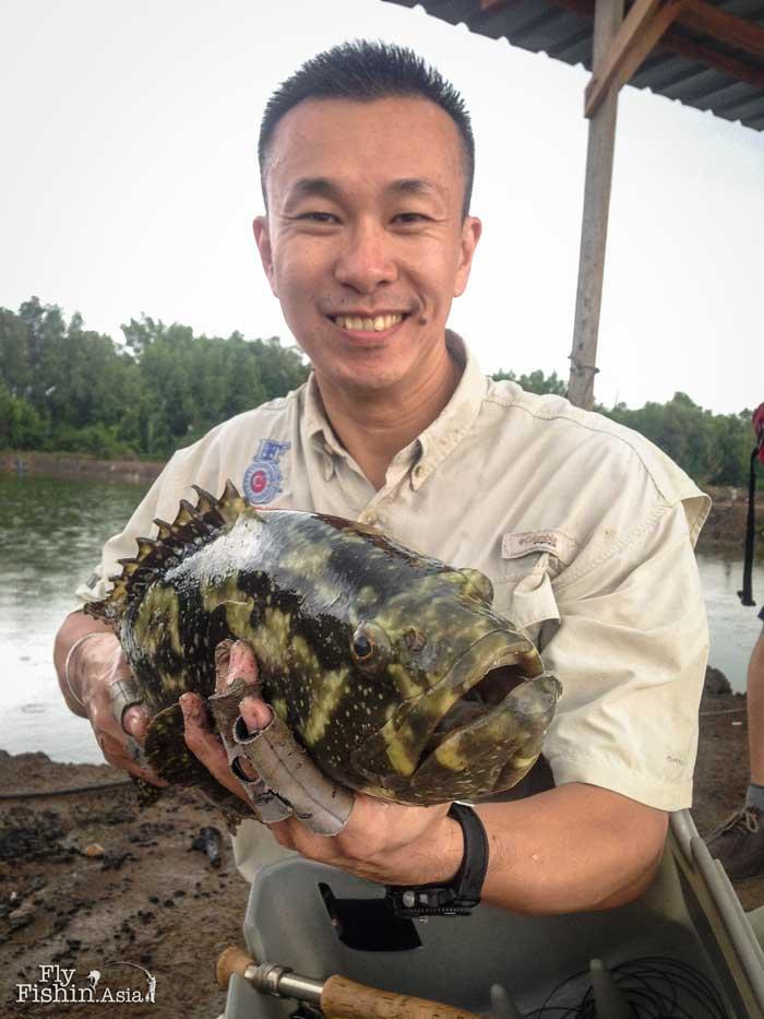 grouper-fly-fishing-jugra-pond-malaysia