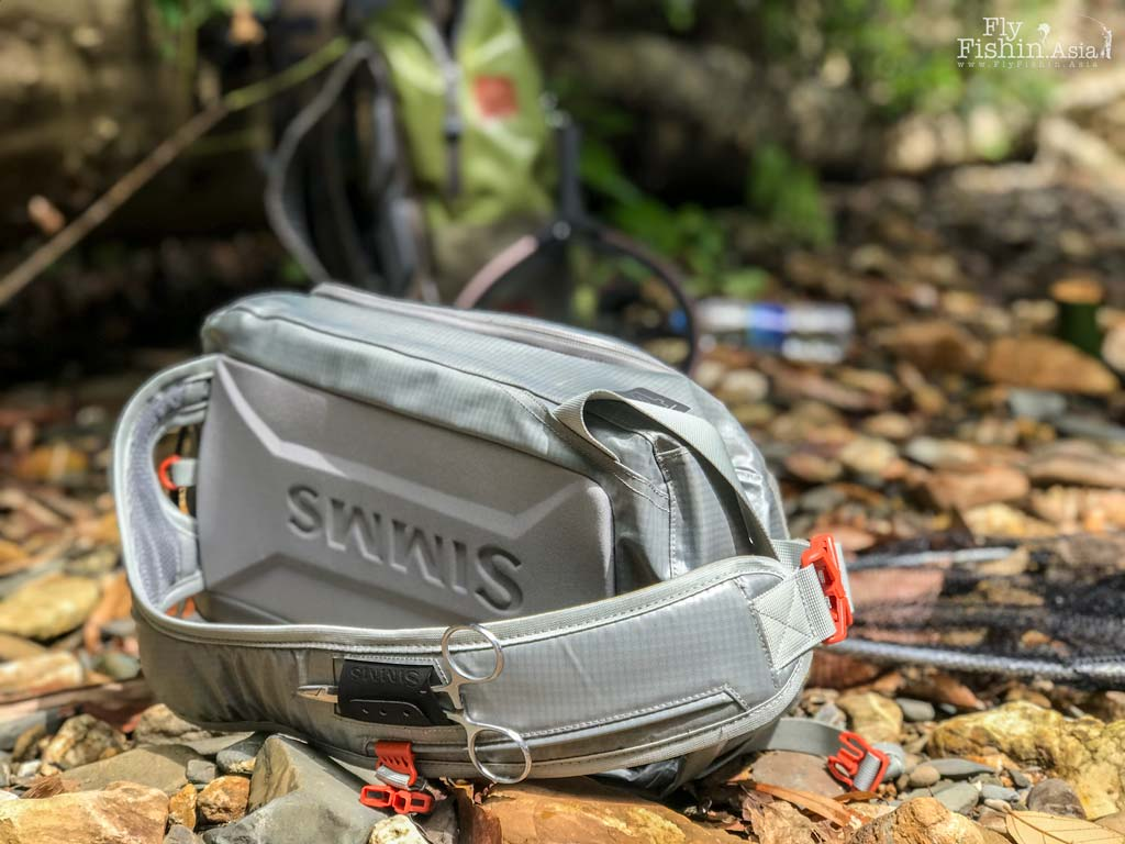 47e5ce92a862 Attaching A Landing Net To The Simms G4 Pro Sling Pack