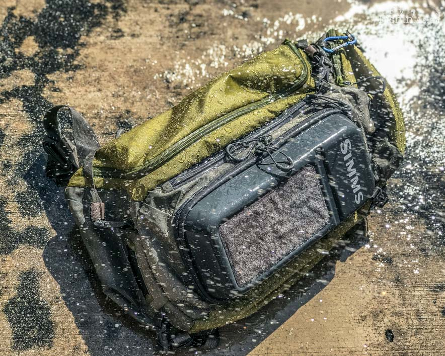 29da5ce0b5a6 The Simms Waypoints sling pack is also subjected to a spray test