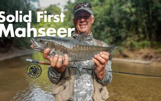 Tim holding his first Thai mahseer