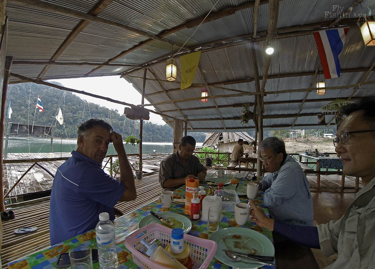 Breakfast at the raft house canteen