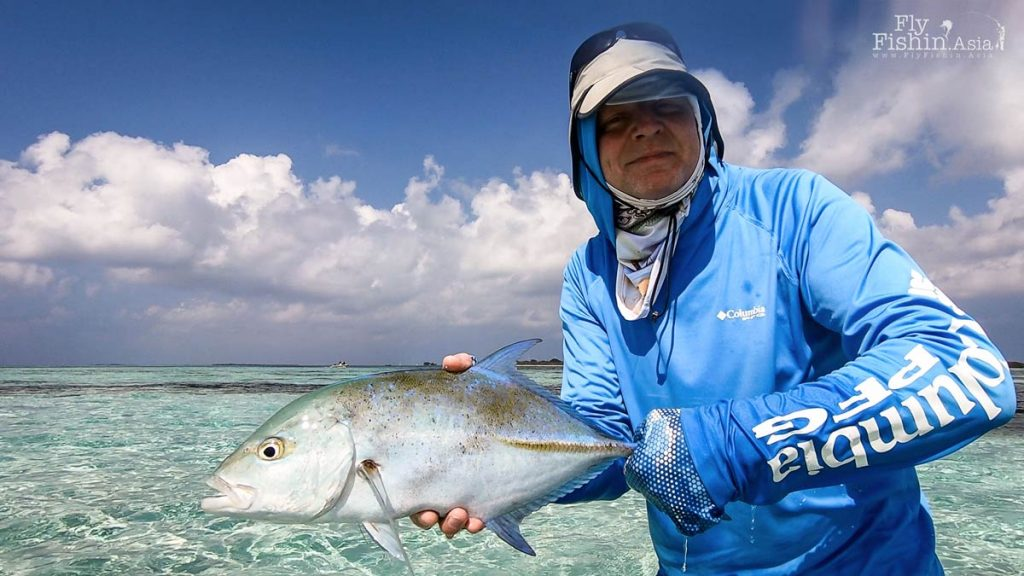 Ian with a beautiful bluefin trevally