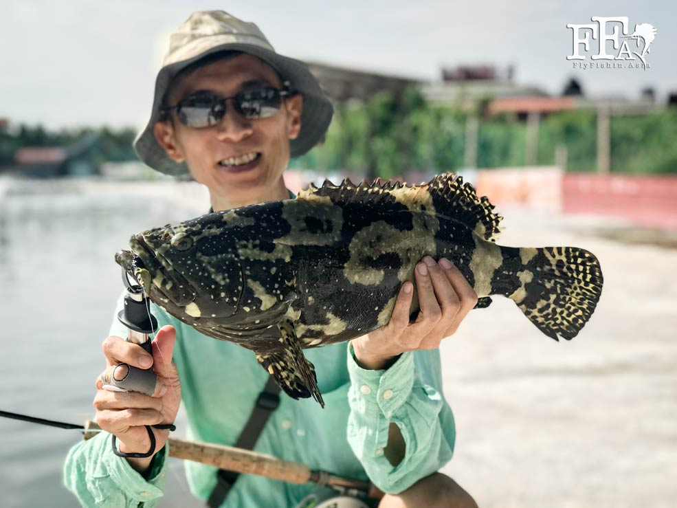 Mah with a grouper