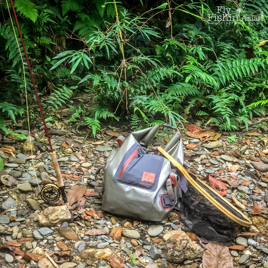 Trying out the Fishpond roll-top back pack and its suitability in this jungle fishing scenario