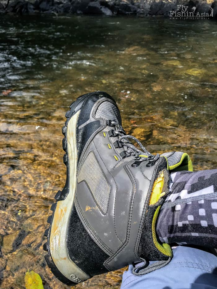 The Orvis Ultralight wading boots are some of the most comfortable I've had but sadly there are some durability issues as you can see in the picture above.