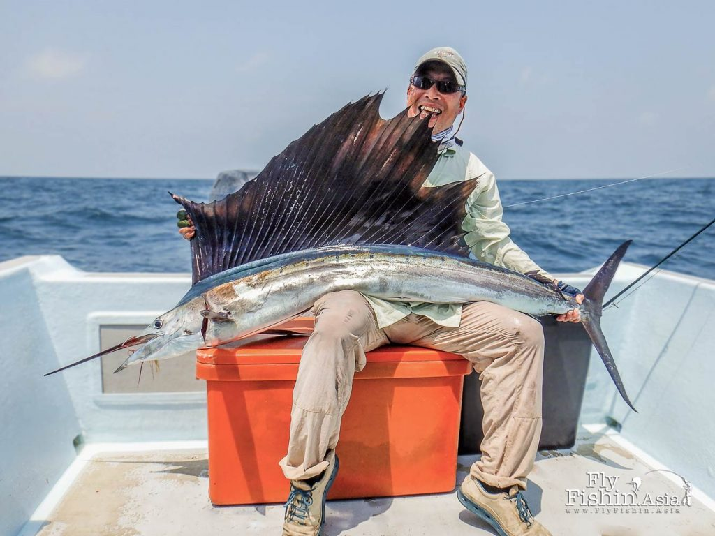 Konishi San lands his first sailfish on day three